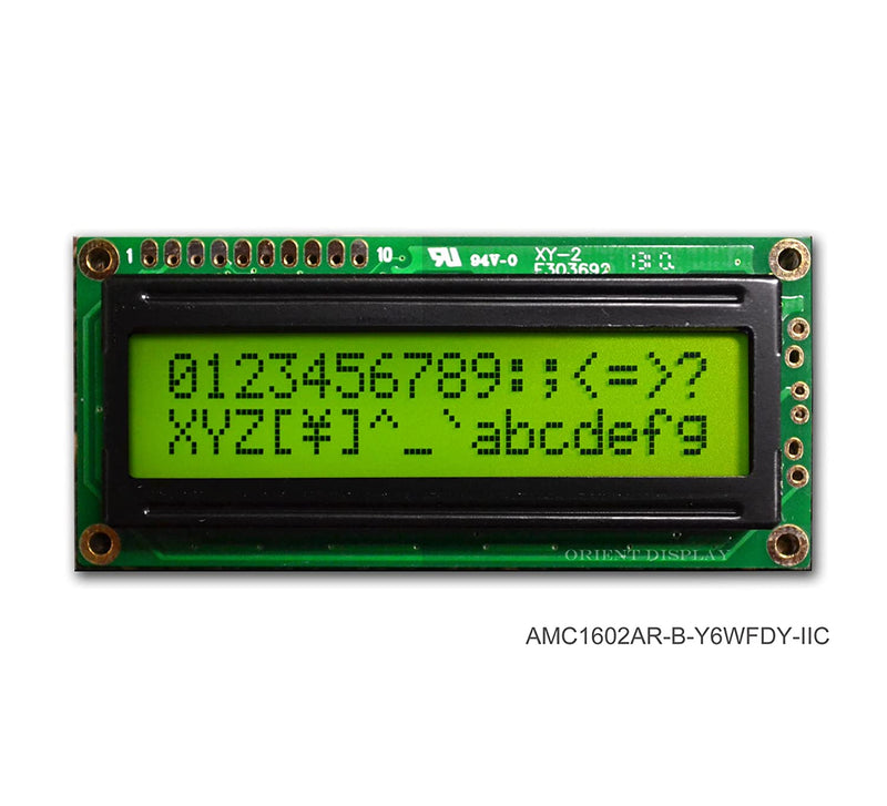 LCD Black on Yellow/Green