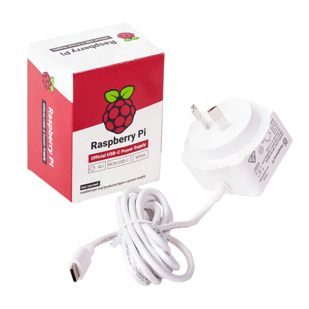 Official Raspberry Pi 4 Type-C Power Supply - AU Plug (White)