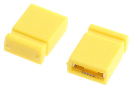 Jumper 2.54 mm (2 Pin Yellow)