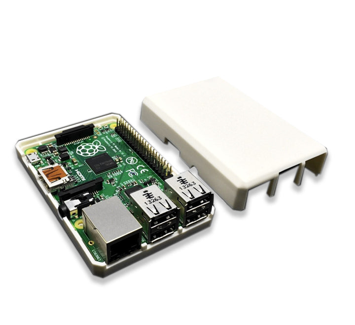Raspberry Pi 2, 3, 3B+ Closed Case, White