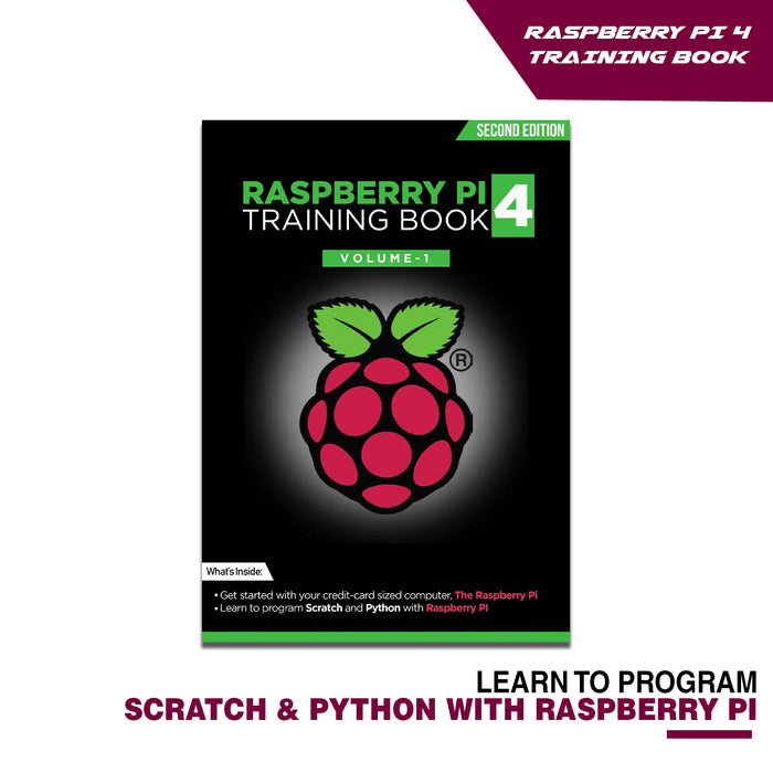 Raspberry Pi 4 Starter Kit with Training Book & Wireless Keyboard