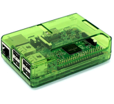 Raspberry Pi 2, 3, 3B+ Green Open Case