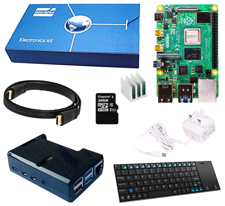 Raspberry Pi 4 Model B Windows IOT Starter Kit with 32GB MicroSD Card