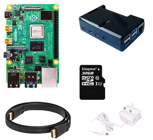 Raspberry Pi 4 Model B Starter Kit (NOOBS) with 32GB MicroSD Card