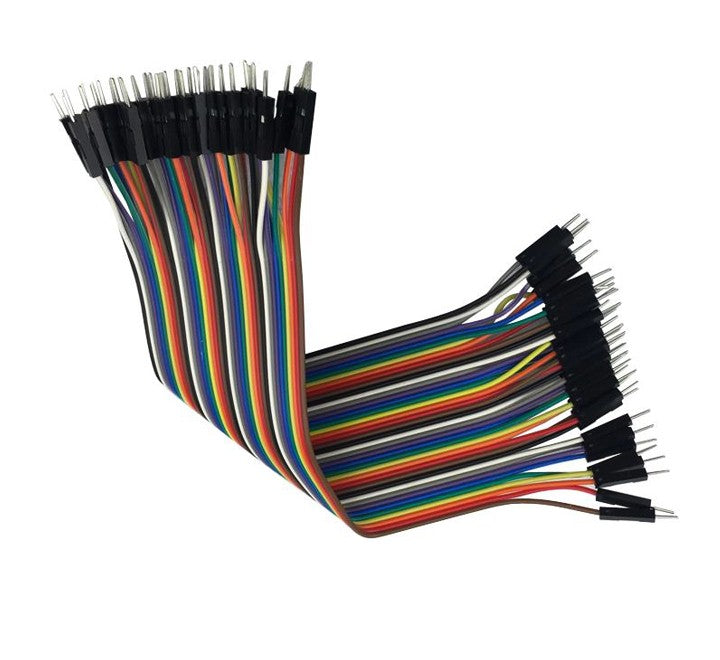 "Jumper Wires - 40 x 6"" (150mm) Male-Male (pack of 40)"
