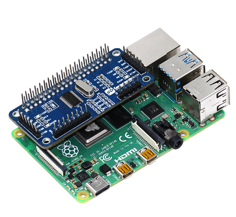 Serial Expansion Hat for Raspberry pi 4