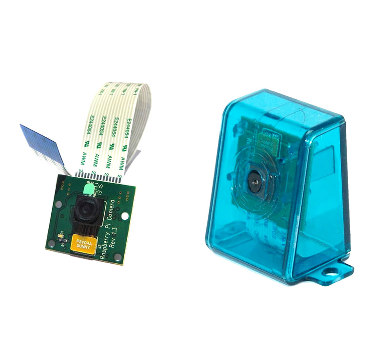 Raspberry Pi Camera with Protective Case - Blue
