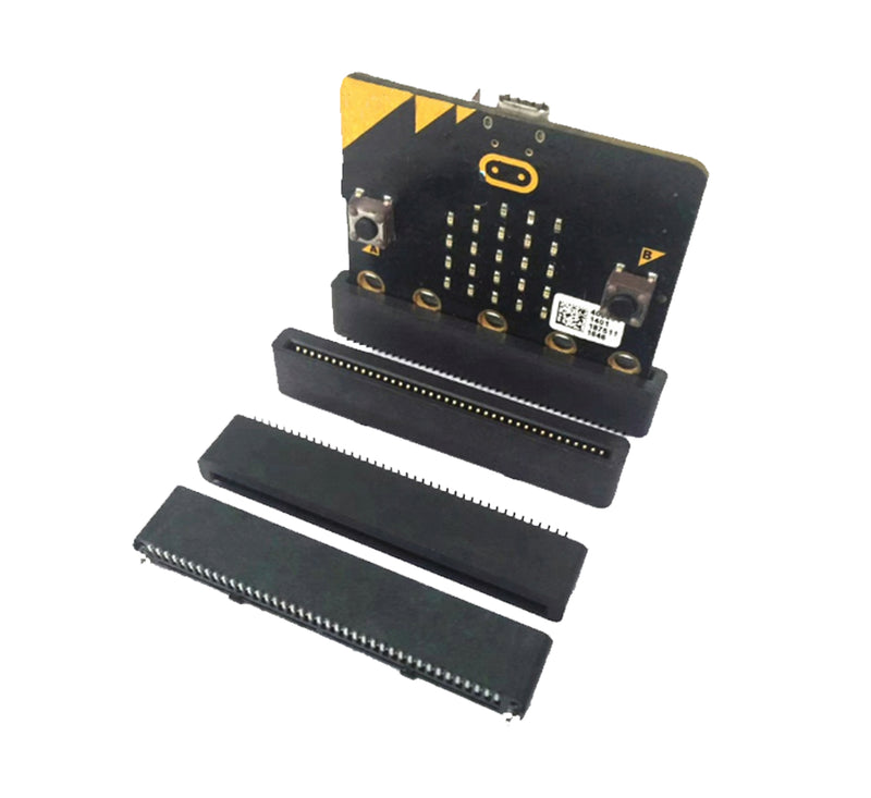 BBC micro:bit Header 40P 180 Degree Angle SMT Edge Connector - Black (Pack of 5 Pcs)