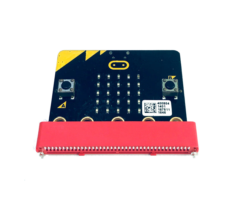 BBC micro:bit Header 40P 180 Degree Angle SMT Edge Connector - Red (Pack of 5 Pcs)