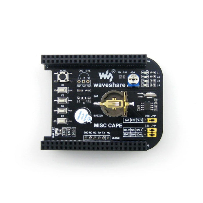 Beaglebone MISC CAPE IC Test Board
