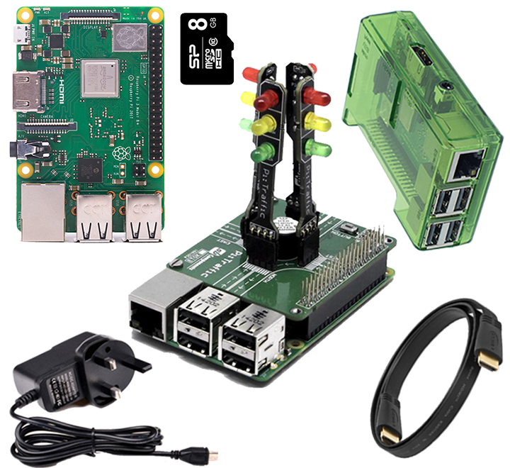 PiTraffic: Raspberry Pi Traffic Light starter Kit with Breadboard kit