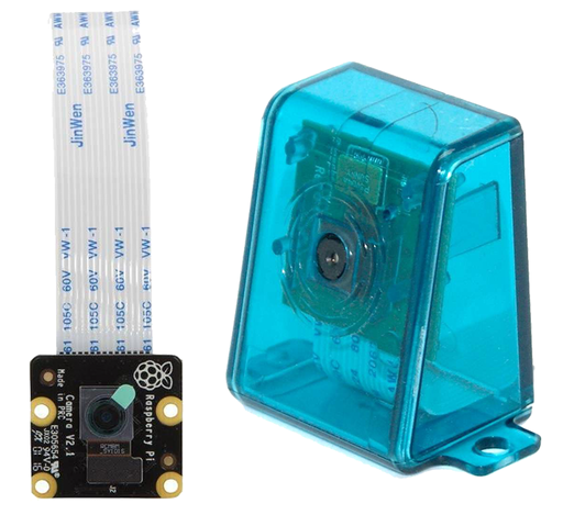 Official 8 MP Raspberry Pi NOIR Camera with Blue Case