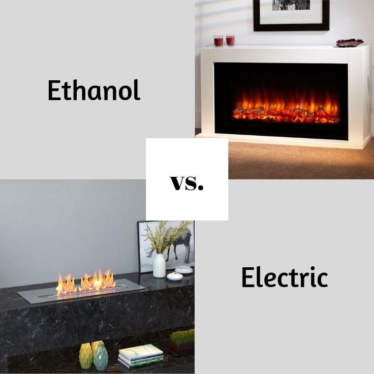 Ethanol Fireplace VS Electric Fireplace