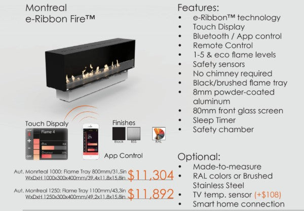 Decoflame R-ribbon Ethanol fireplace