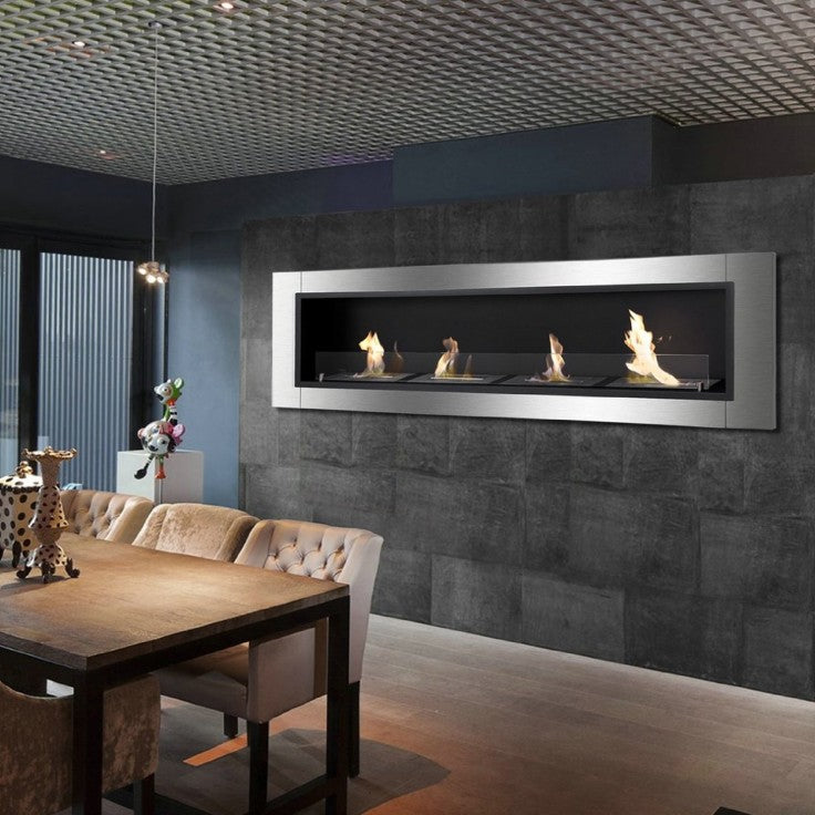Ignis wall mount ethanol fireplace in living room
