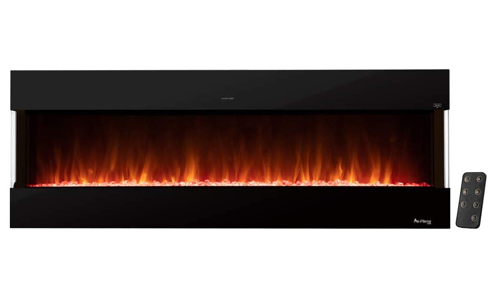e-Flame USA Hampshire 60-inch Wall Mount / Wall Insert LED Electric Fireplace with Timer