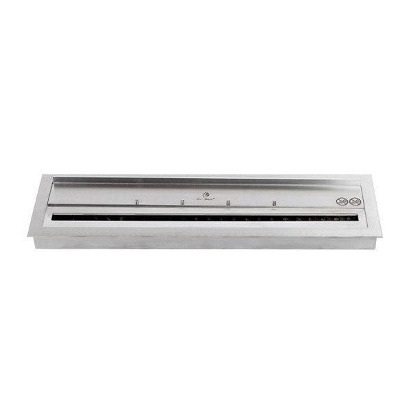 "Bio-Blaze BB-B60I 23"" Stainless Steel Ethanol Fireplace Burner w/ Borders-Modern Ethanol Fireplaces"