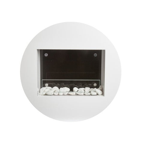 "Image of Bio-Blaze Qwara BB-QWA-W 23"" White Wall Mounted Ethanol Fireplace-Modern Ethanol Fireplaces"