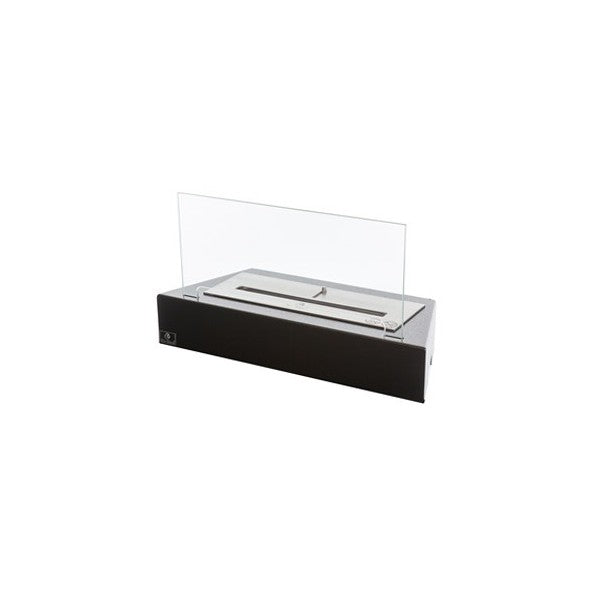 "Bio-Blaze Design Table BB-DT 21"" Black Ethanol Fireplace Grate w/ Glass-Modern Ethanol Fireplaces"