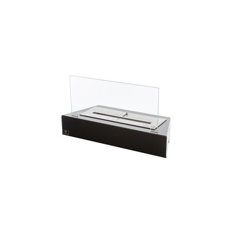 "Image of Bio-Blaze Design Table BB-DT 21"" Black Ethanol Fireplace Grate w/ Glass-Modern Ethanol Fireplaces"