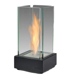 "Eco-Feu Cartier 7"" Matte Black Tabletop Ethanol Fireplace TT-00106-Modern Ethanol Fireplaces"