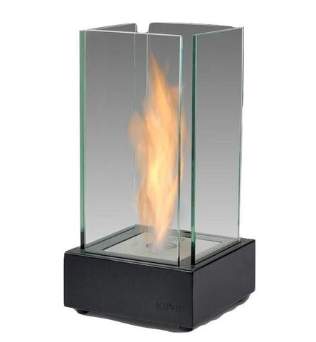 "Image of Eco-Feu Cartier 7"" Matte Black Tabletop Ethanol Fireplace TT-00106-Modern Ethanol Fireplaces"