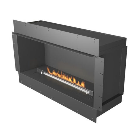 "Image of Planika Forma Single Sided 48"" Black Firebox Ethanol Fireplace w/ Remote Control-Modern Ethanol Fireplaces"