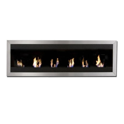 "Bio-Blaze Square XL I BB-SQXL1 59"" Stainless Steel Wall Mounted Ethanol Fireplace-Modern Ethanol Fireplaces"