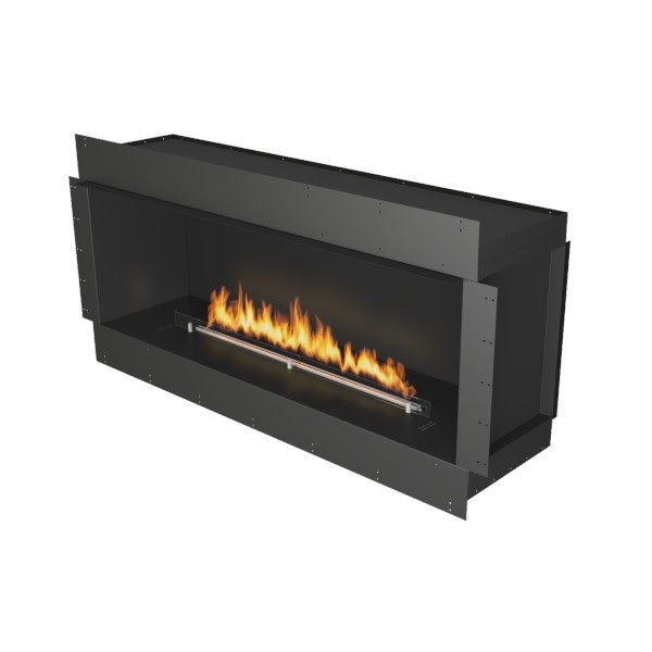"Planika Forma Single Sided 60"" Black Firebox Ethanol Fireplace w/ Remote Control-Modern Ethanol Fireplaces"