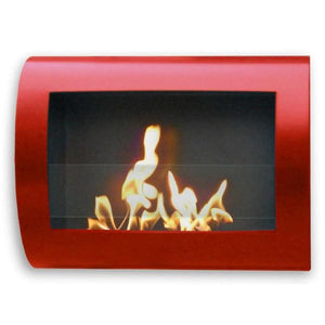 "Anywhere Fireplace Chelsea 90212 27"" Red Wall Mounted Ethanol Fireplace-Modern Ethanol Fireplaces"