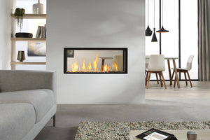 Decoflame Montreal E-Ribbon 2 Sided Recessed Automatic Ethanol Fireplace