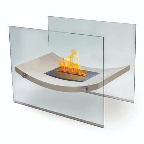 Image of Anywhere Fireplace Broadway Free-Standing Ethanol Fireplace-Modern Ethanol Fireplaces