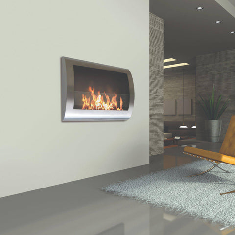 Image of Anywhere Fireplace Chelsea Wall Mounted Ethanol Fireplace-Modern Ethanol Fireplaces