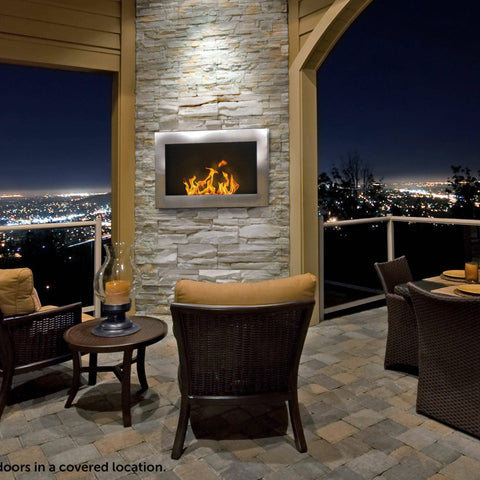 Anywhere Fireplace Soho Wall Mounted Ethanol Fireplace-Modern Ethanol Fireplaces