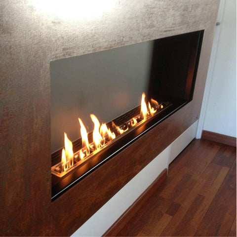 "GlammFire Apollo EVOPlus Automatic Wall Mounted Ethanol Fireplace 57""-Modern Ethanol Fireplaces"
