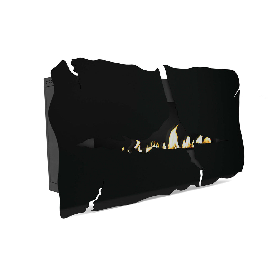 "Glammfire Apollo IV EVOPlus Automatic Wall Mounted Ethanol Fireplace 64""-Modern Ethanol Fireplaces"