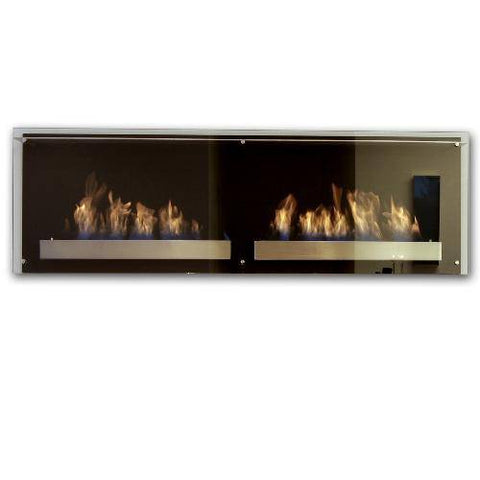 Image of Decoflame Atlantic Twin Ethanol Wall Fireplace-Modern Ethanol Fireplaces