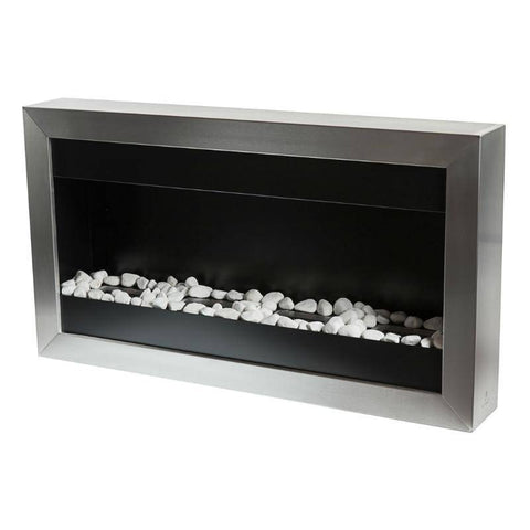 Bio-Blaze Square Large II Ventless Wall Fireplace (BB-SQL2)-Modern Ethanol Fireplaces