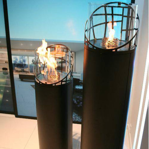 Image of Decoflame Dubai Round Free-Standing Outdoor Fireplace-Modern Ethanol Fireplaces