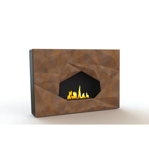 "GlammFire Crystal EVOPlus Automatic Wall Mounted Ethanol Fireplace 43""-Modern Ethanol Fireplaces"