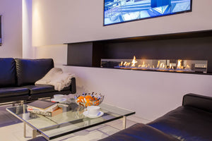 Decoflame Montreal Panorama E-Ribbon Automatic Recessed Ethanol Fireplace