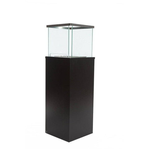 "Image of Bio-Blaze Column Large BB-CB 50"" Black Ventless Freestanding Ethanol Fireplace-Modern Ethanol Fireplaces"