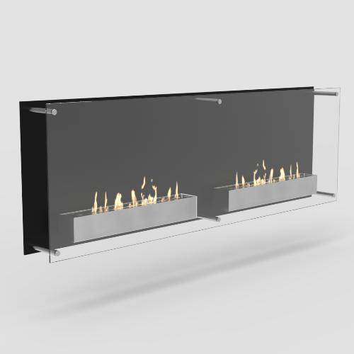 Decoflame Atlantic Twin Ethanol Wall Fireplace-Modern Ethanol Fireplaces