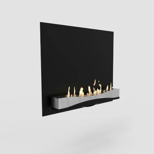 Decoflame Atlantic Wave Wall Fireplace-Modern Ethanol Fireplaces