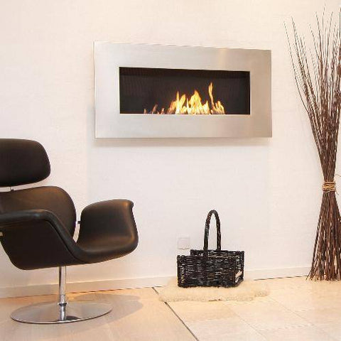 Decoflame New York Empire Wall Fireplace (Polished)-Modern Ethanol Fireplaces