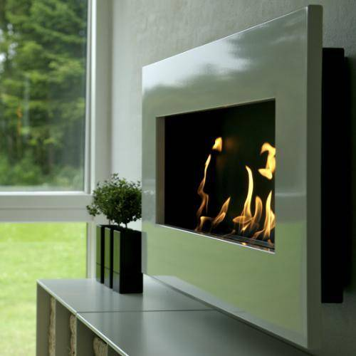 Decoflame New York Empire Wall Fireplace (Rusty)-Modern Ethanol Fireplaces