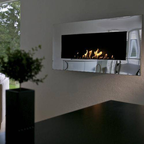 Image of Decoflame New York Empire Wall Fireplace (Rusty)-Modern Ethanol Fireplaces