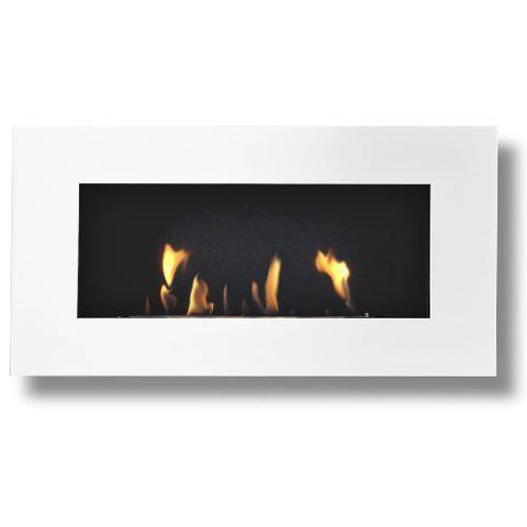 Image of Decoflame New York Empire Wall Fireplace (White)-Modern Ethanol Fireplaces