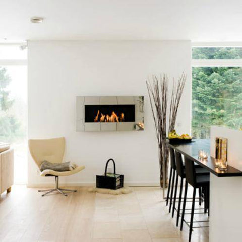 Decoflame New York Plaza Wall Fireplace (Rusty)-Modern Ethanol Fireplaces