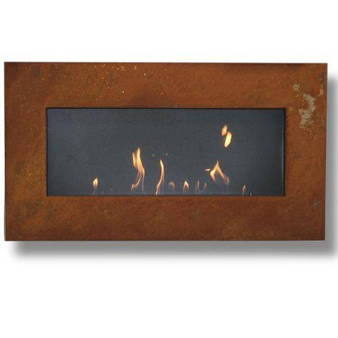 Image of Decoflame New York Plaza Wall Fireplace (Rusty)-Modern Ethanol Fireplaces